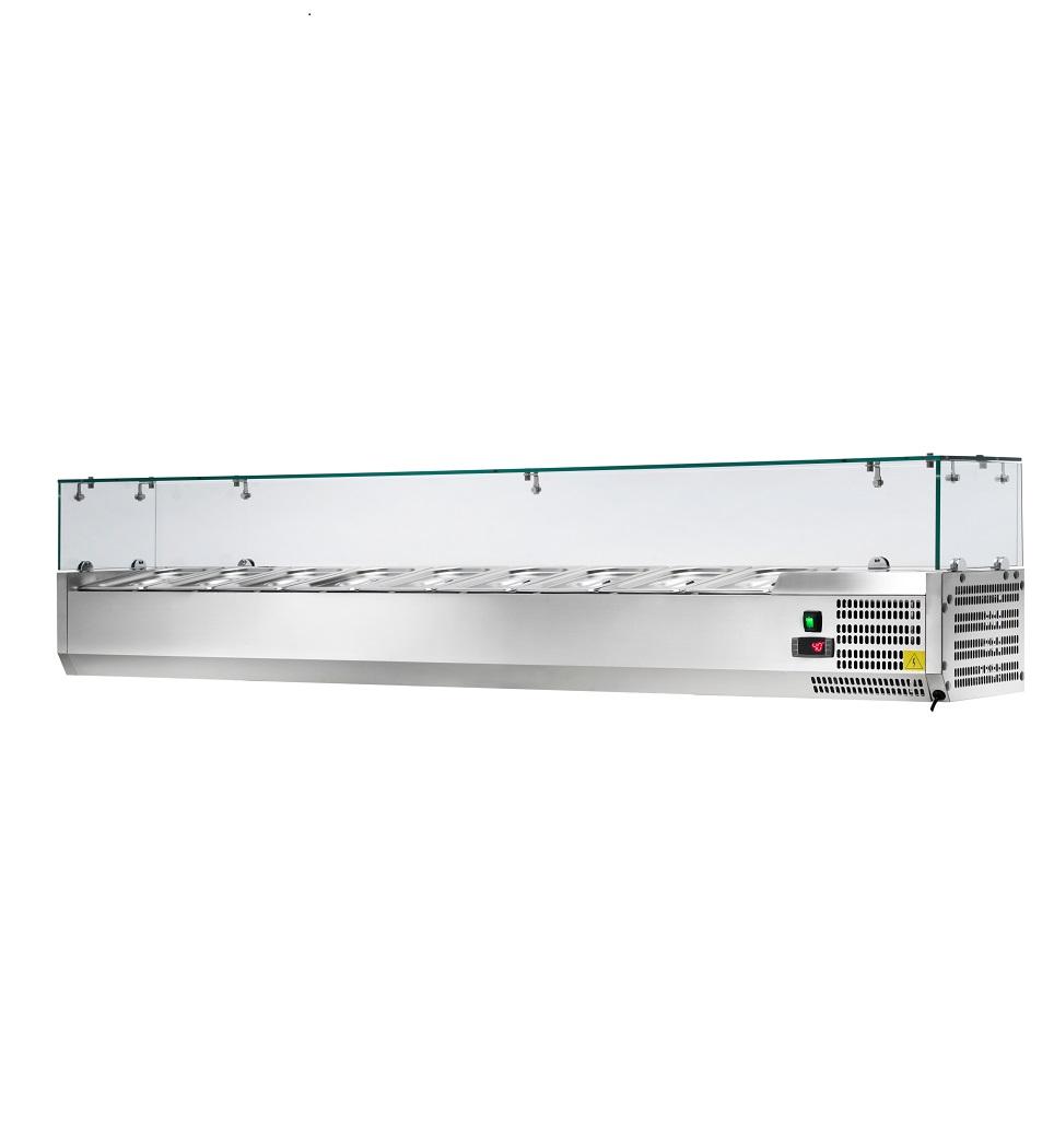 Vitrina Refrigerada de Bancada para Pizzaria AK20038