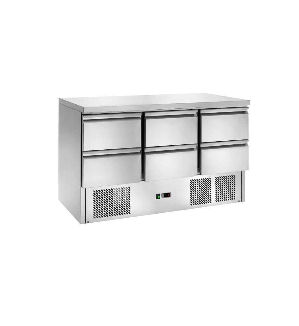 Bancada Refrigerada Estática de Gavetas AK903-6D